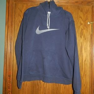 Men's Nike Navy w/White Accents Pullover Hoodie